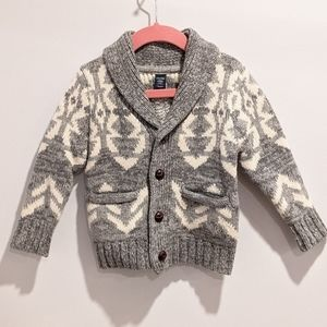 Baby Gap boy's grey knit cardigan sz 18-24 months